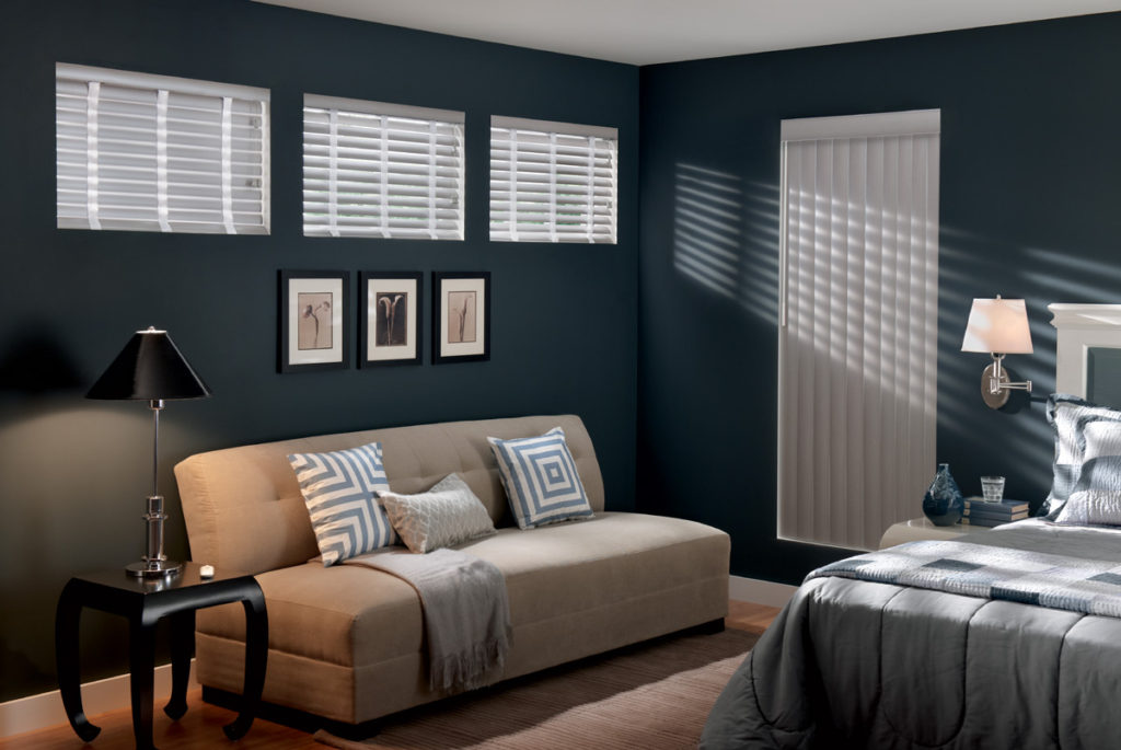 Faux Wood Blind with Decorative Tapes